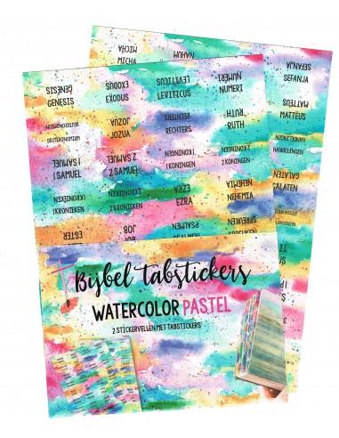 Bijbel tabstickers Watercolor Pastel