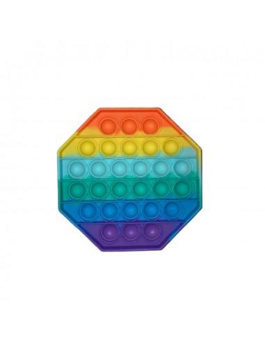 Pop it game multicolor 8 hoek